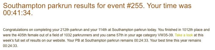 Southampton parkrun 255 29 April 17