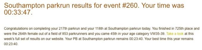 Southampton parkrun 260 03 June 17