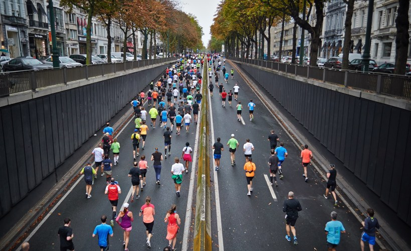 Marathon runners (or marathoners)