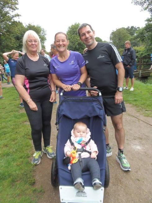 Family at Penrose parkrun
