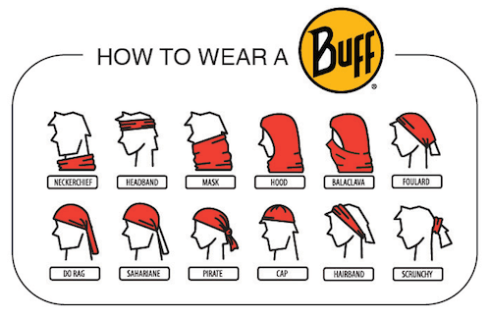How to wear a Buff