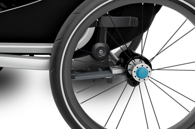 Thule Chariot Lite suspension.