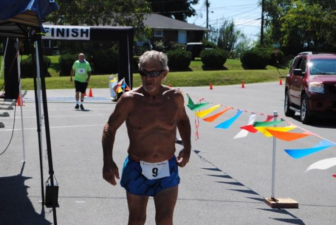 Doyle Carpenter finishing a race.