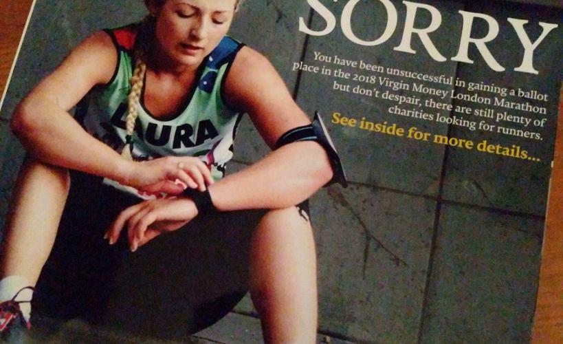 London Marathon rejection magazine 2017