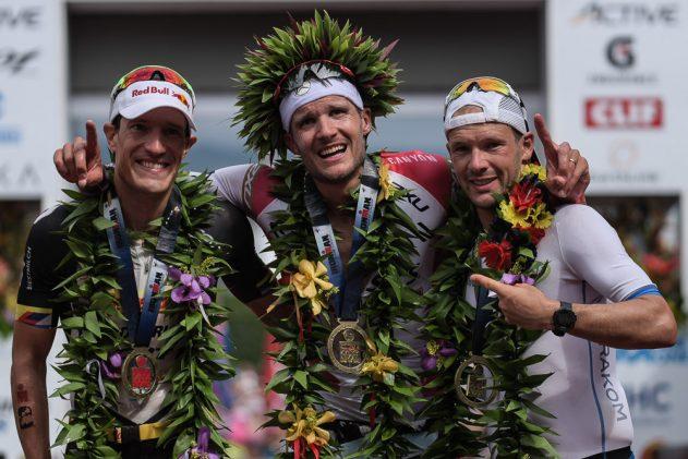 Men on the Kona podium in 2017
