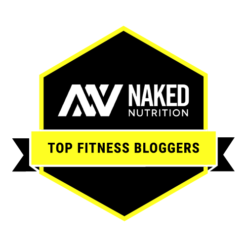 Naked Nutrition Top Fitness Blogger badge