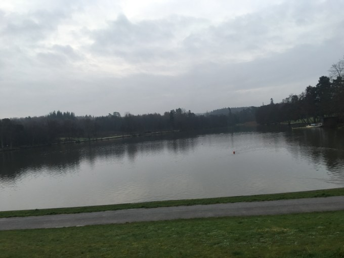 View of the lake at Tilgate parkrun