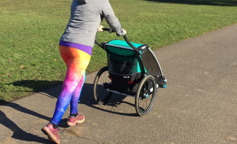 Tamsyn wearing Gear Bunch leggings whilst running