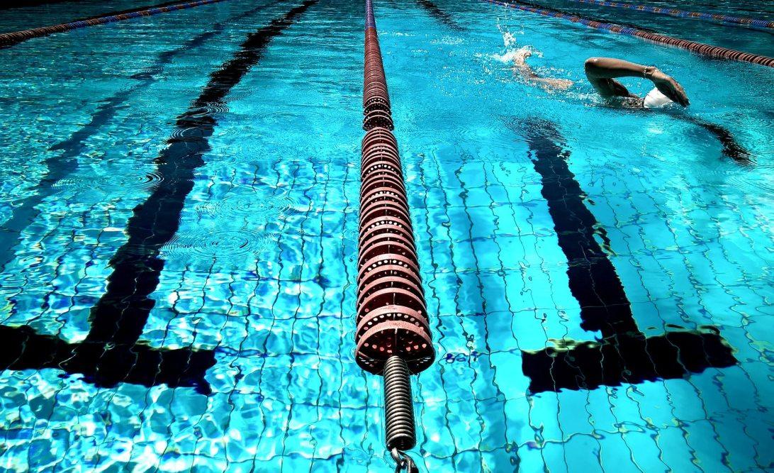Lane ropes in swimming pool