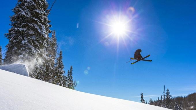 Dane Tudor skiing