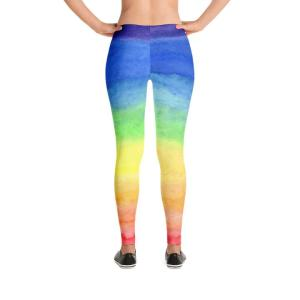 Rainbow leggings rear view