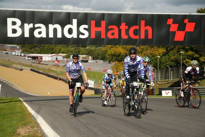 Cyclists at Brands Hatch