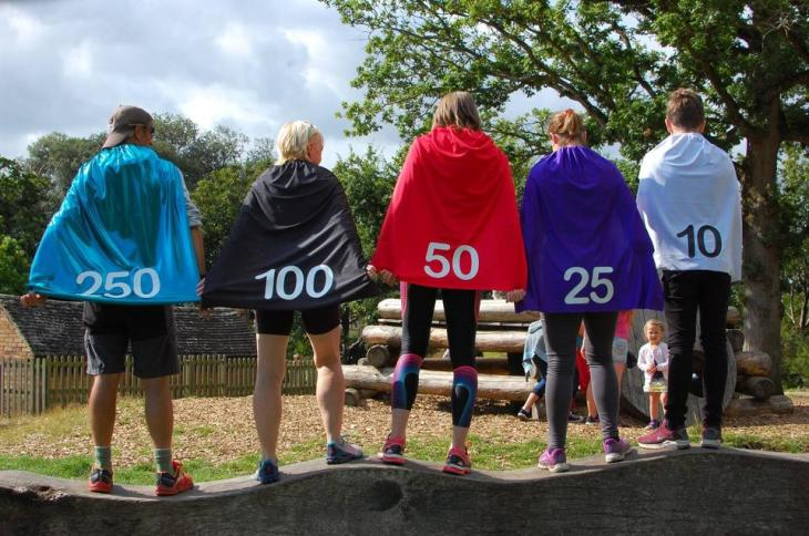 Capes for milestone runners at Upton House parkrun.