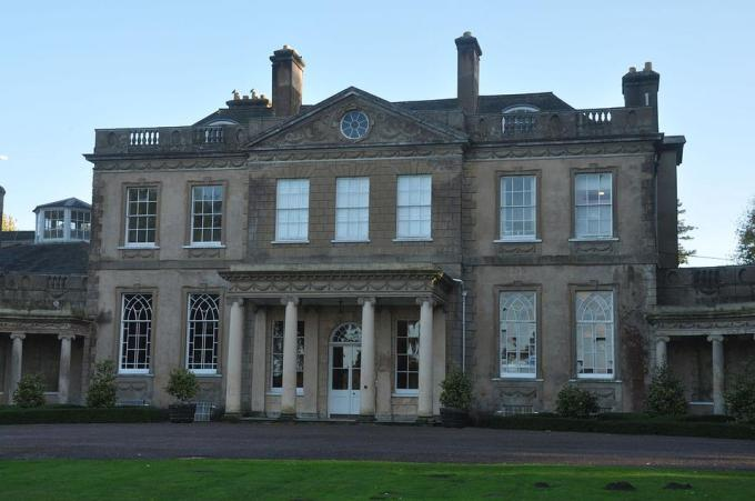 Upton House - an imposing building with a portico.