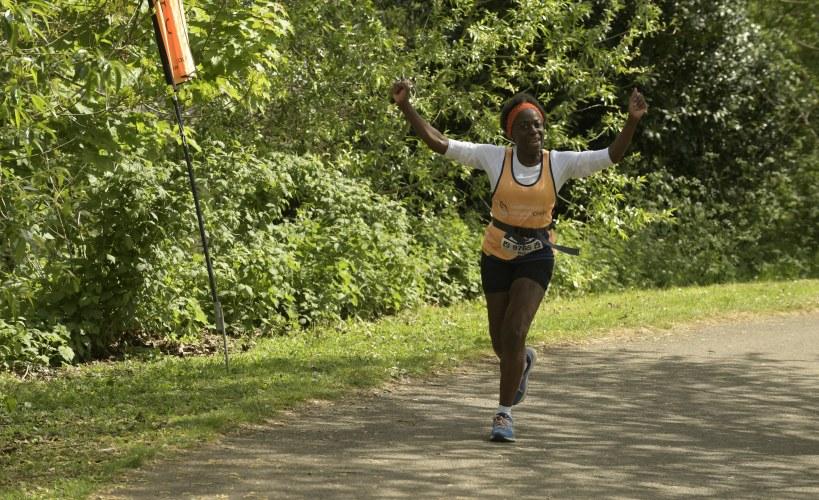 Inez Walker taking part in Southampton Marathon
