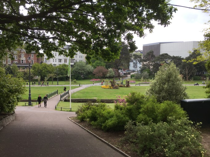 View of Bournemouth Lower Gardens.