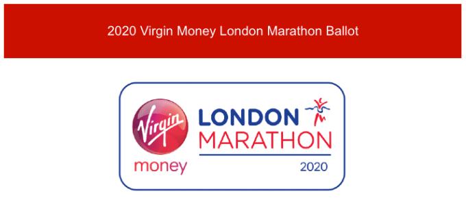 London Marathon ballot entry.