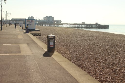 View towards Southparade Pier in Southsea.