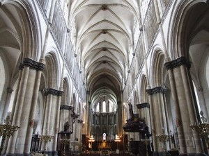 Modern photo of the Cathedral of St Omer