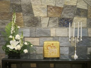 The candelabra in the homily
