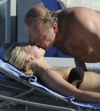 Kelsey Grammer and Kayte Walsh poolside in Miami Beach