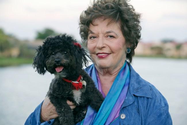Lori Heyman Gordon with her beloved Morri