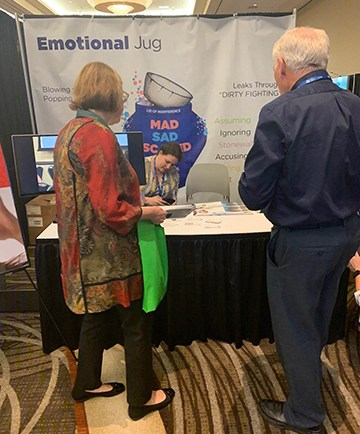 Emotional jug at Planetree conference on patient-centered care