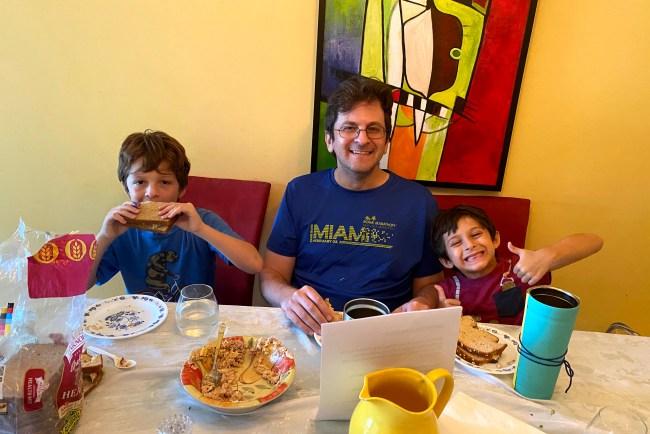 Larry Schooler and children
