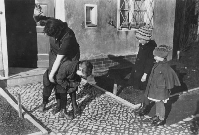 The Days of Black and White spanking