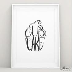 fathima's studio cupcake hand lettered art print