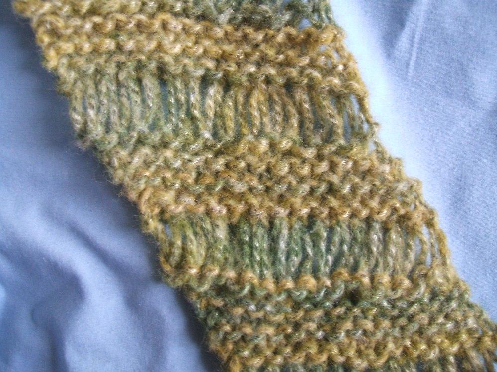 Diagonal Drop Stitch Scarf Pattern (Really) (3/3)