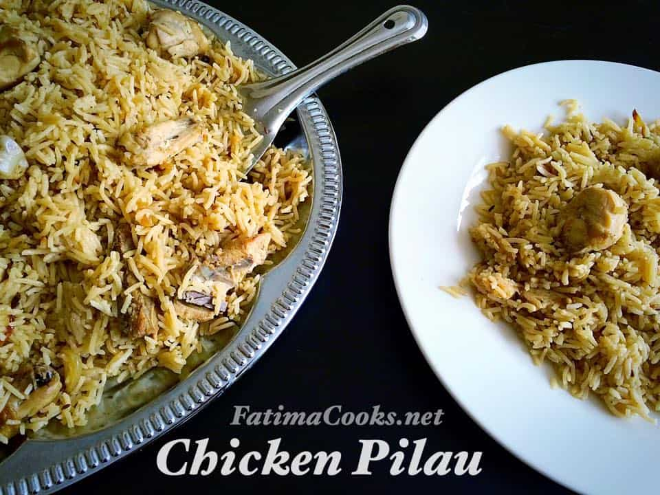 How To Make Chicken Pilau Rice Pakistani Style Fatima Cooks