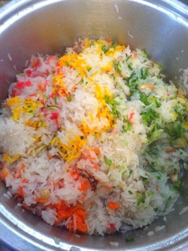 Mutanjan - Sweet and Colourful Pakistani Rice - Meethe Chawal