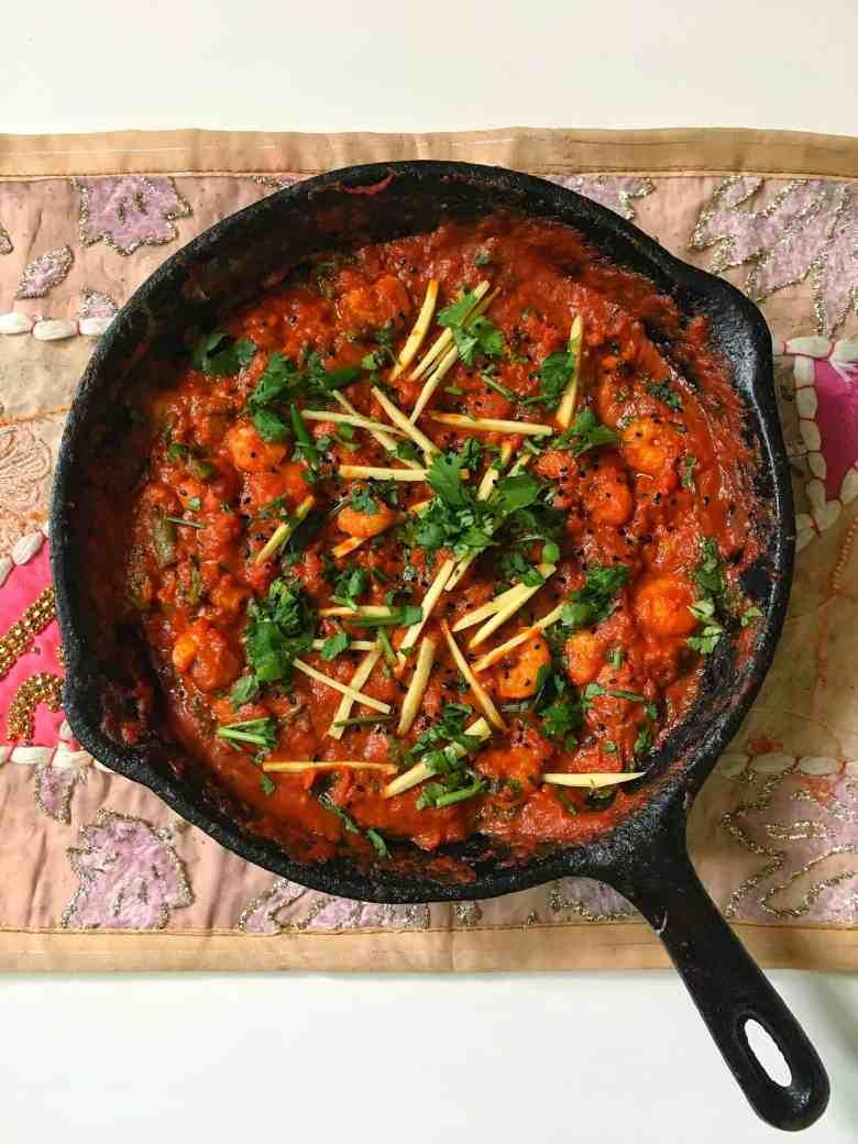 How To Make Prawn Karahi Masala An Authentic Pakistani Indian Tomato Based Curry Recipe Fatima Cooks