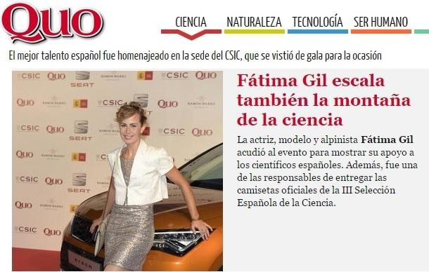 III Gala de la Ciencia, Revista Quo