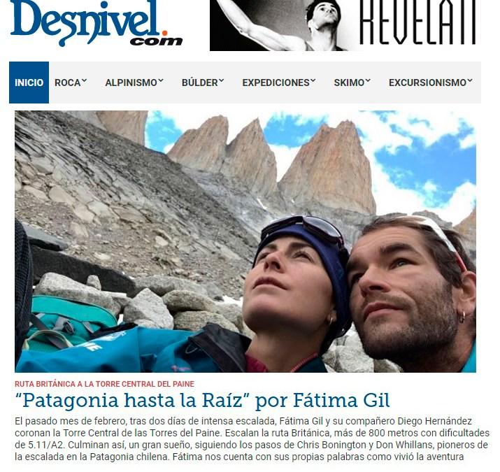 """""""Patagonia hasta la raíz"""" en Desnivel.com"""