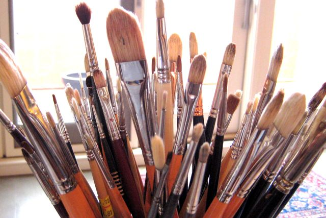 brushes big and small
