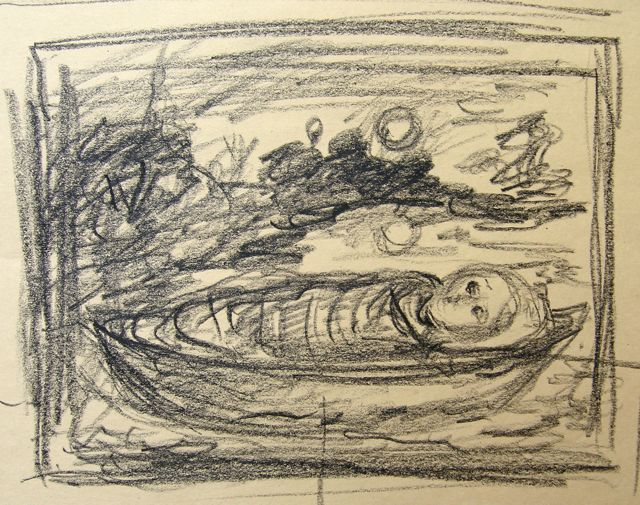 """In the Moonlight"" compositional sketch"