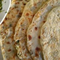 Deliciously crisp Aloo Parathas