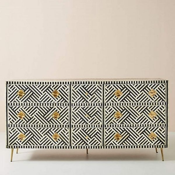 geometric chest of drawer