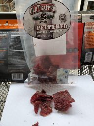A sampling of beef jerky from Old Trapper