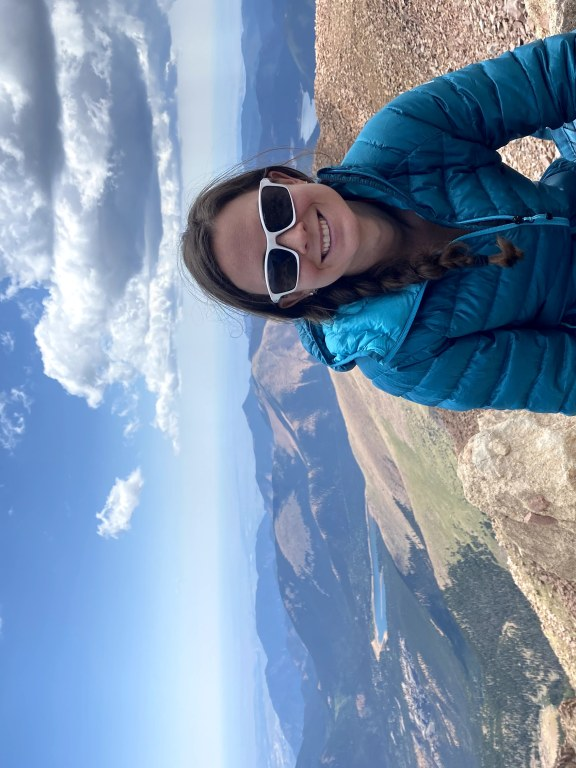 Cristin Smiling at the top of Pikes Peak.