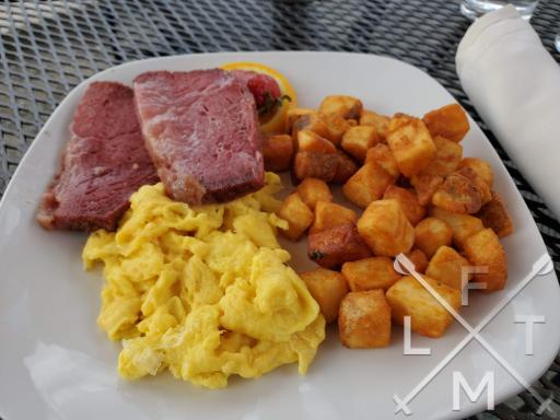 The Corned beef and eggs from the Parkside cafe