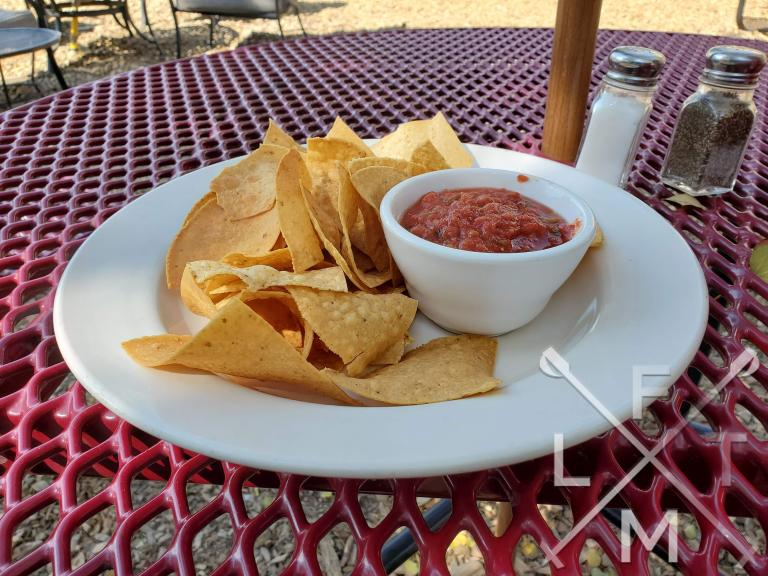 Home made chips and a house made salsa.