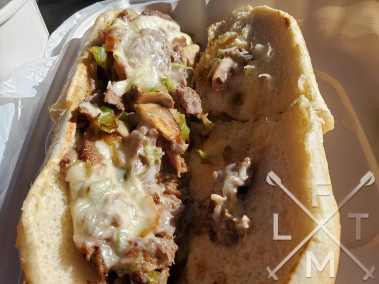 The Fisco Steak sandwich.  Steak, cheese, green peppers, and mushrooms.