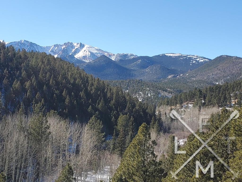 The overlook view.  A long valley leading up to the snowcapped peaks in the background of the Mt. Esther trail.