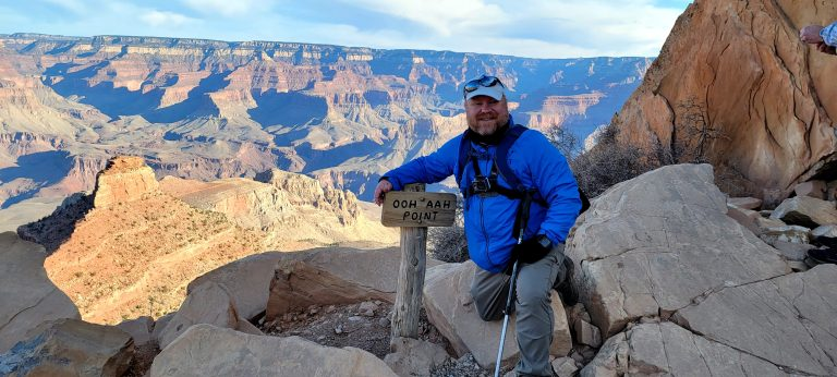 A selfie of the Fatman at Ooh Aah Point.