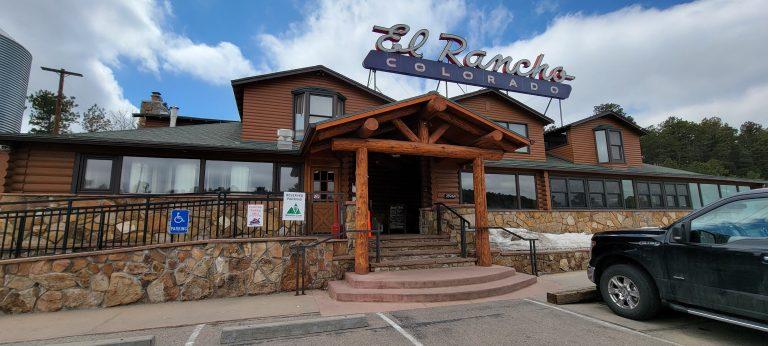 The historic El Rancho sign above the door and wood beam entranceway gave the EL Rancho Brewing Company a classic and historic feel.