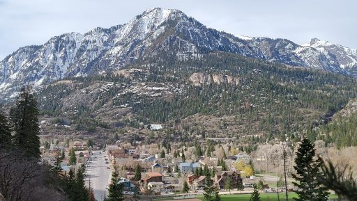 Ouray Colorado which was sunny with a little bit of snow on the mountain tops before six inches of snow overnight was one of the lessons I learned.