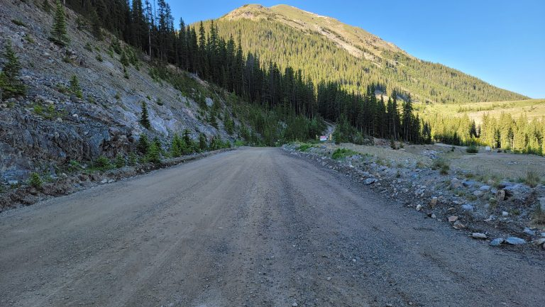 The dirt road leading to the trailhead of the Ruby Gulch Trail.  It is kind of hard to find as nothing is really marked in the area.